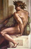 Фигура Ignudo с фрески на потолке Сикстинской капеллы (Sistine Chapel)