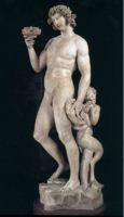 Статуя бога вина Бахуса (Bacchus), ранняя работа Микеланджело (1496–1497)