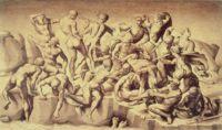Копия утерянного картона Битва при Кашине (Battle of Cascina) нарисованная Бастиано да Сангалло