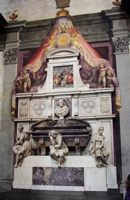 Гробница Микеланджело в церкви Святого Креста (Basilica of Santa Croce) во Флоренции.