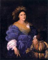 Портрет Лауры Юсточии, картина Тициана