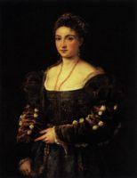 Портрет Ла Белла (Красотка), картина Тициана