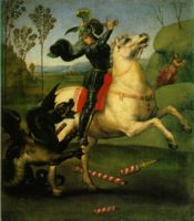 �������, ������� ������� � ������ (Saint George and the Dragon), ��������� ������ (29 x 21 ��) ��� ����� ������.