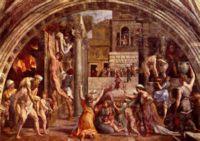 Рафаэль, фрески Пожар в Борго (The Fire in the Borgo), 1514 год, Станца дель Инчендио ди Борго