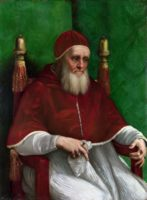 Рафаэль, Портрет Папы Юлия II (Portrait of Pope Julius II), прибл. 1512 год.