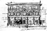 Рафаэль, Палаццо Бранконио дель Аквила (Palazzo Branconio dell'Aquila), разрушен.