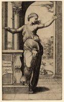 «Лукреция» (Lucretia) выгравирована Раймонди по эскизу Рафаэля.