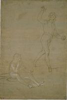 Рафаэль, Набросок солдат для картины «Воскресение Иисуса Христа», прибл. 1500 год.