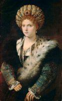 Портрет Изабела д' Эсте - женские портреты Тициана