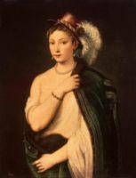 Портрет молодой женщины, - женские портреты Тициана