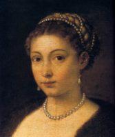 Тициан. Девушка в меху. 1536-1538 - женские портреты.
