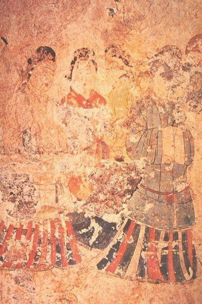 Настенная живопись (фрески) в гробнице Такамацузука (Takamatsuzuka)