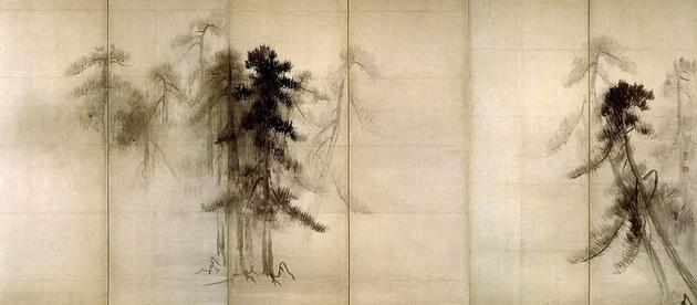 картина  <Сосны > :: Хасегава Тохаку [ японская живопись ]