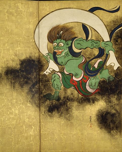 картина Бог ветра (Wind God) ::  Огата Корин (Ogata Korin) [ японская живопись ], статья интерьер кухни феншуй