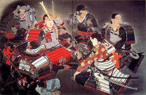 японская живопись - картина  ( Ёритомо в пещере) :: Маэда Сейсон (Maeda Seison) и статья японская квартира дизайн