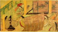 картина свиток Сказания о Генжи