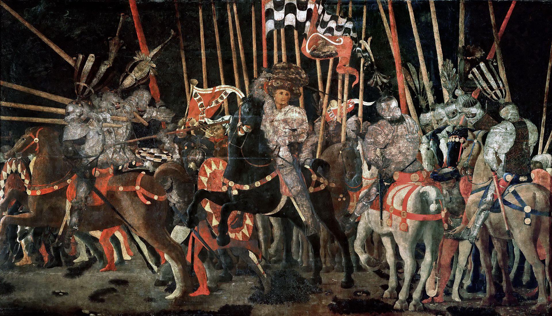 Паоло Учелло :: Битва при Сан-Марино ( правая панель) - Paolo Uccello фото