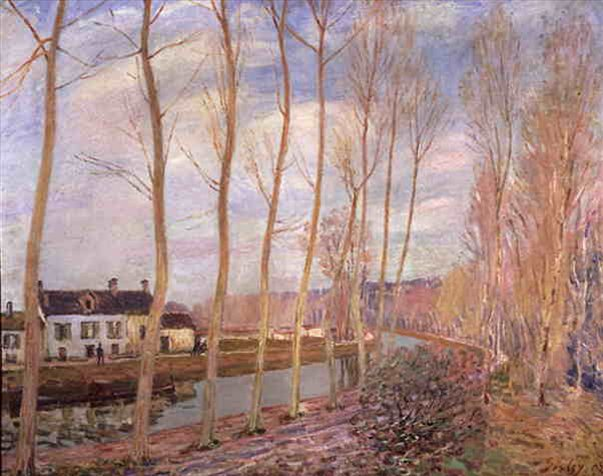 Речной канал в Морэ  :: Сислей Альфред - Alfred Sisley фото