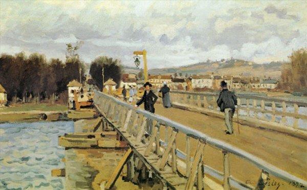 Мост в Аржантёе :: Альфред Сислей -  Alfred Sisley (Альфред Сислей) фото