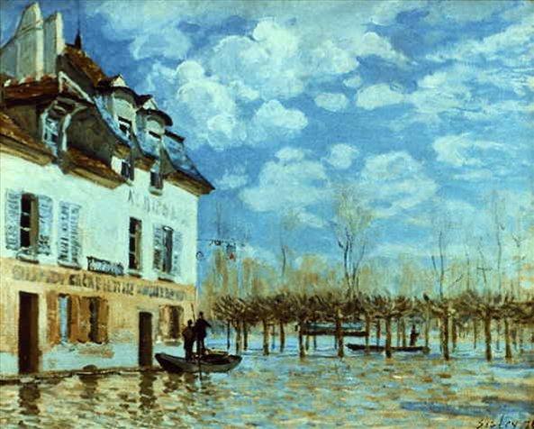 Наводнение в Марли :: Сислей Альфред -  Alfred Sisley (Альфред Сислей) фото