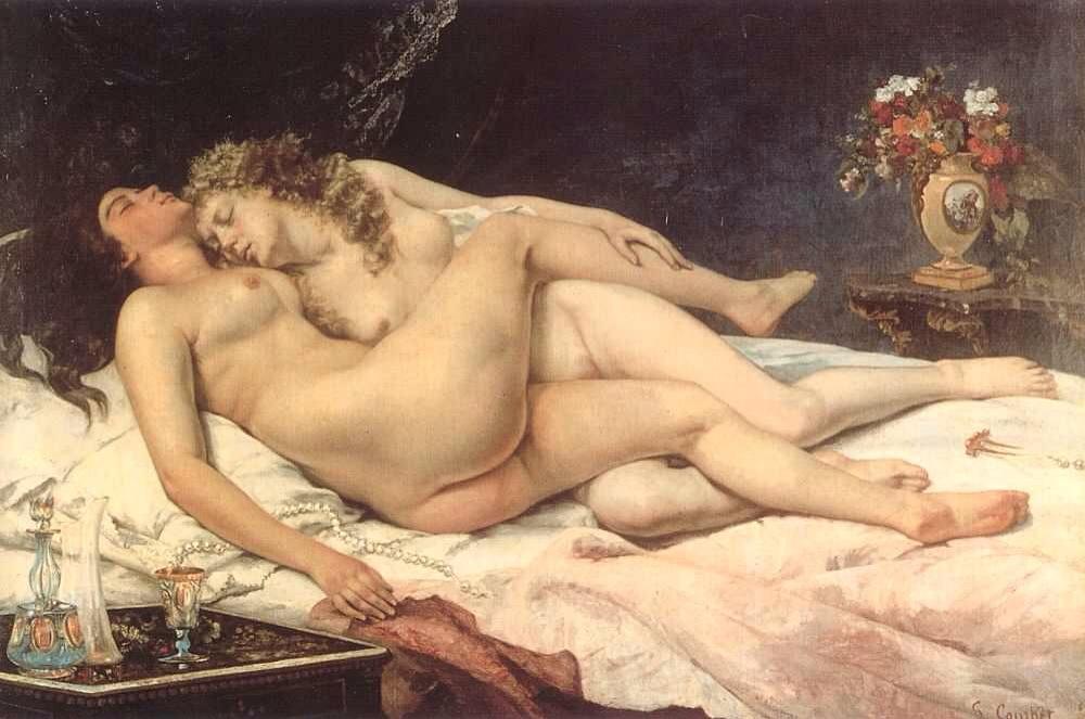 картина Спящие (Le Sommeil) ::  Густав Курбе - Курбе Густав фото