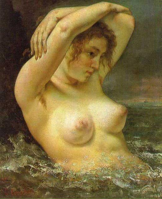 картина Купальщица :: Жан Дезире Гюстав Курбе - Курбе Густав фото