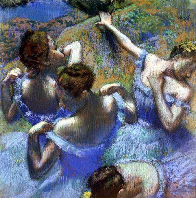 Голубые танцовщицы - Дега Эдгар  ( Edgar Degas ) фото