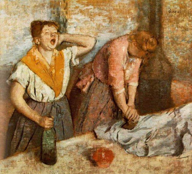 Зевающая девушка ( Гладильщицы ) - Дега Эдгар  ( Edgar Degas ) фото