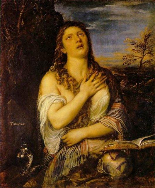 Кающаяся Мария Магдалина :: Тициан Вачелио, описание картины - Tiziano Veccellio (Тициан) фото