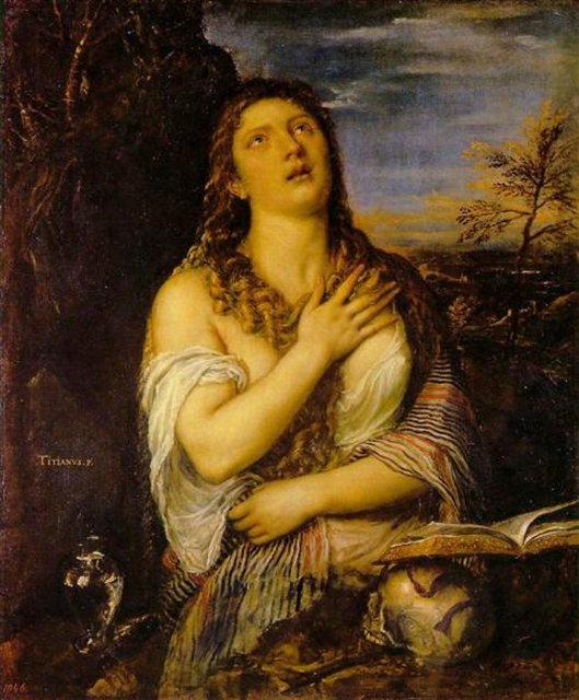 Кающаяся Мария Магдалина :: Тициан Вачелио, описание картины - Tiziano Veccellio фото