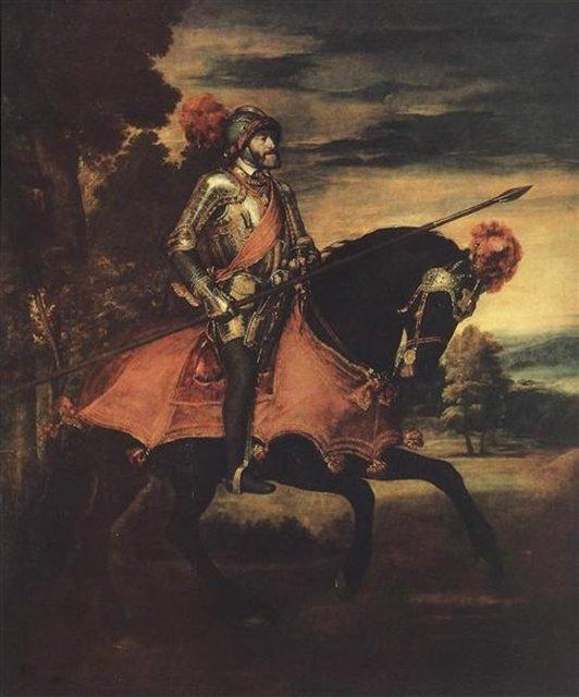 Карл V в сражении при Мюльберге :: картина  Тициана - Tiziano Veccellio (Тициан) фото