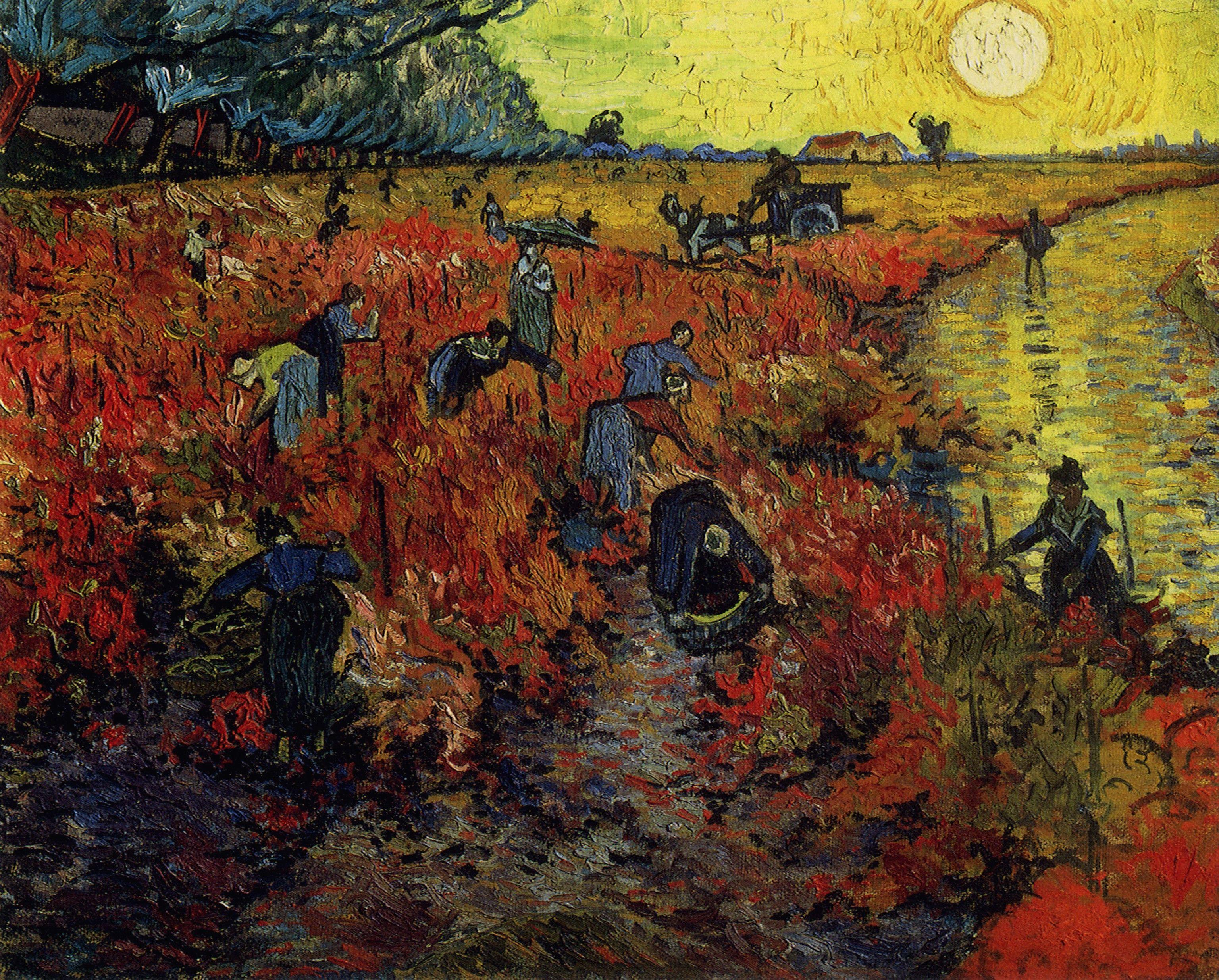 картина Красные виноградники в Арле, Винсент Ван Гог ( Франция ), плюс статья Арль, Франция - Van Gogh (Ван Гог) фото