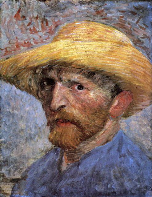 Автопортрет в соломенной шляпе ::  Винсент Ван Гог - Van Gogh (Ван Гог) фото