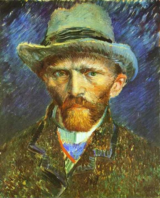 Ван Гог Автопортрет в серой шляпе ::  Винсент Ван Гог - Van Gogh (Ван Гог) фото