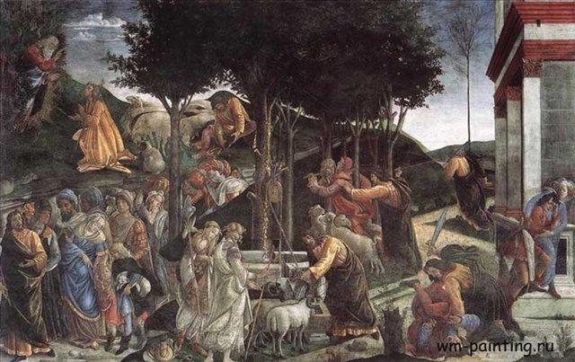 Сцены из жизни Моисея :: Боттичелли Сандро - Боттичелли Сандро фото