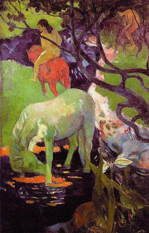 картина  < Белая лошадь > :: Поль Гоген - Гоген Поль ( Paul Gauguin ) фото