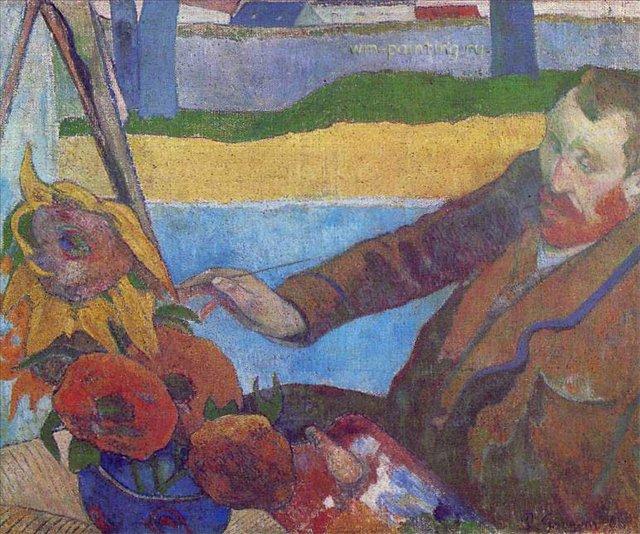 Ван Гог, рисующий подсолнухи, Поль Гоген - Гоген Поль ( Paul Gauguin ) фото