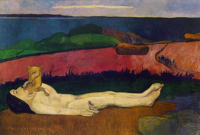 Потеря невинности, Гоген, описание картины - Paul Gauguin фото