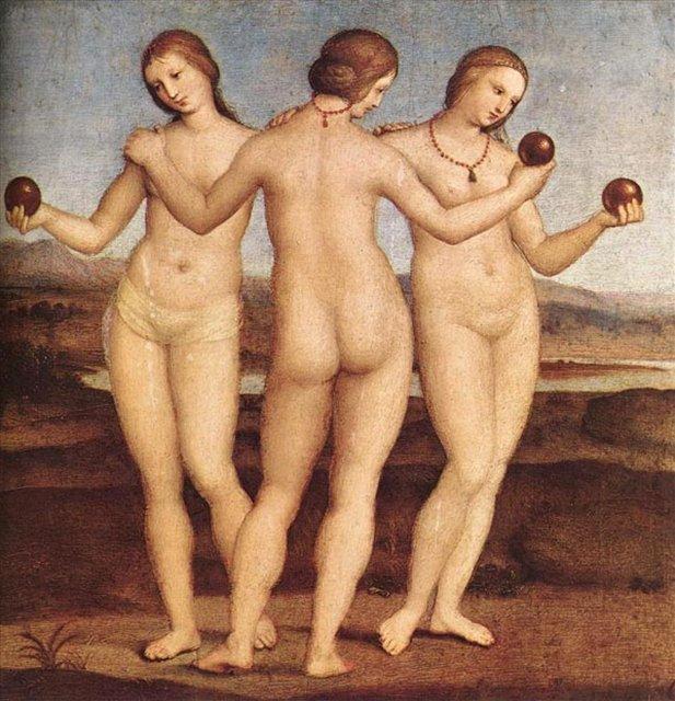 картина Три грации - Рафаэль Санти фото