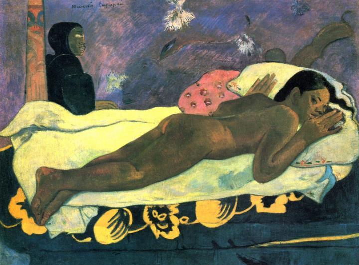 Смотрящий дух мёртвых (Manao tupapau) :: Поль Гоген - Гоген Поль ( Paul Gauguin ) фото