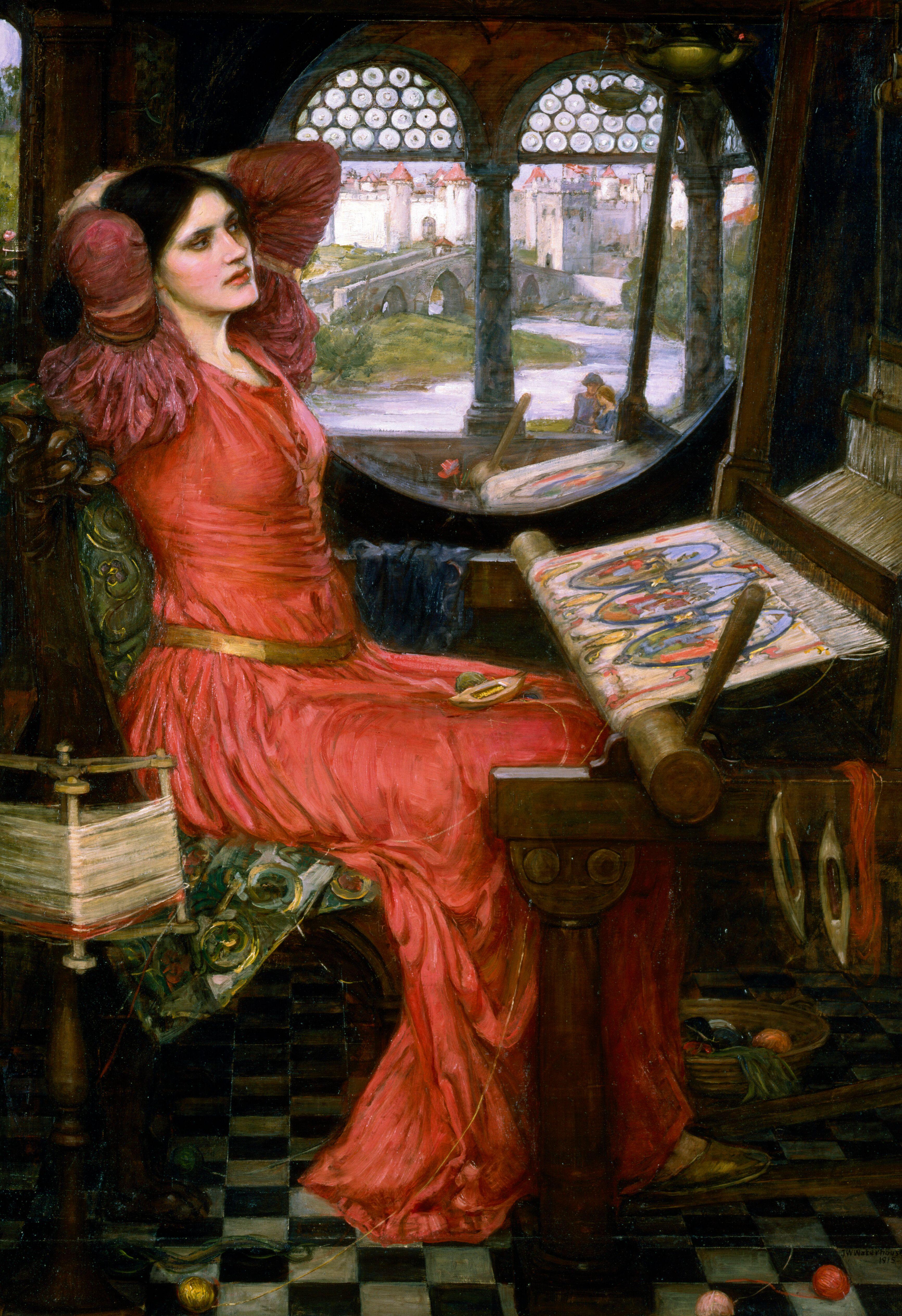 картина Леди Шарлотт, Джон Уильям Вотерхауз, плюс статья про подарки - Ватерхауз Джон Вильям фото