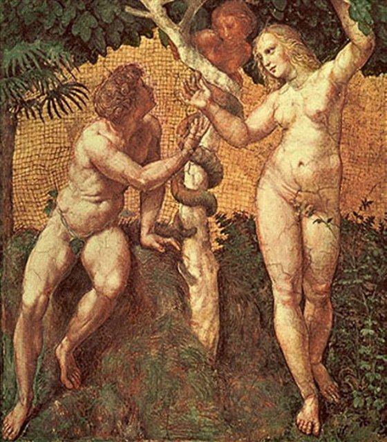 Адам и Ева, мозаика, Рафаэль - Рафаэль Санти фото