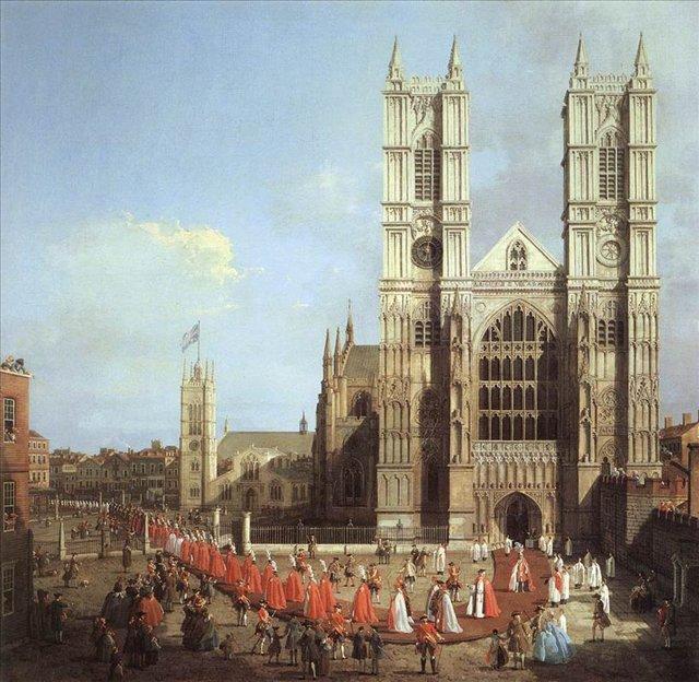 Лондон. Вестминстерское аббатство и процессия рыцарей, Каналетто - Каналетто  [ Джованни Антонио Канал) ] фото