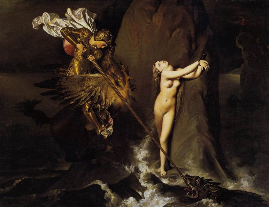 Руджьер, освобождающий Анджелику, Энгр - Jean Auguste Dominique Ingres фото