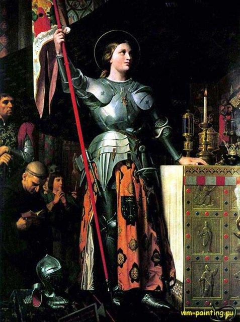 Жанна д'Арк на коронации Карла VII :: Энгр Ж.О.Д., описание картины  - Энгр Жан Огюст Доминик ( Jean Auguste Dominique Ingres ) фото