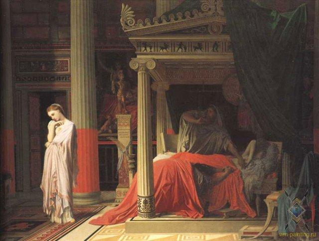 Антиох и Стратоника, Энгр - Jean Auguste Dominique Ingres фото
