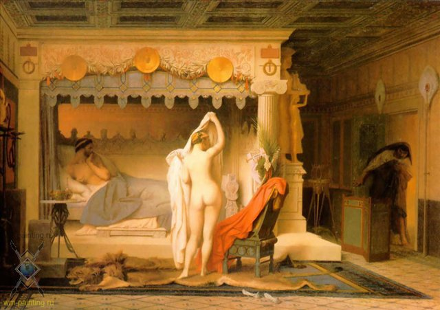 картина <Король Кандавл> :: Жероме Жан Леон - Gerome Jean-Leon фото