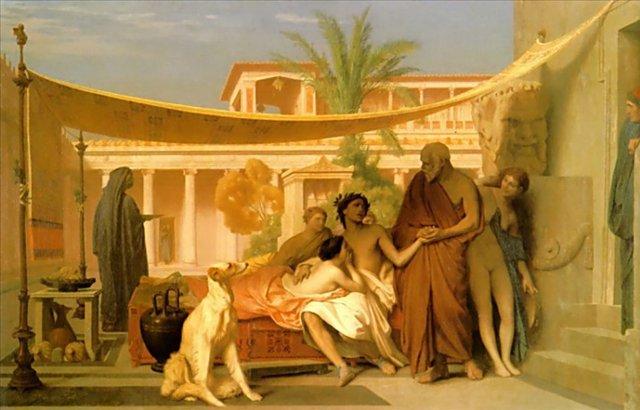 картина <Сократ и Альчибальд> ::  Жероме Жан Леон - Gerome Jean-Leon (Жером Жан-Леон) фото
