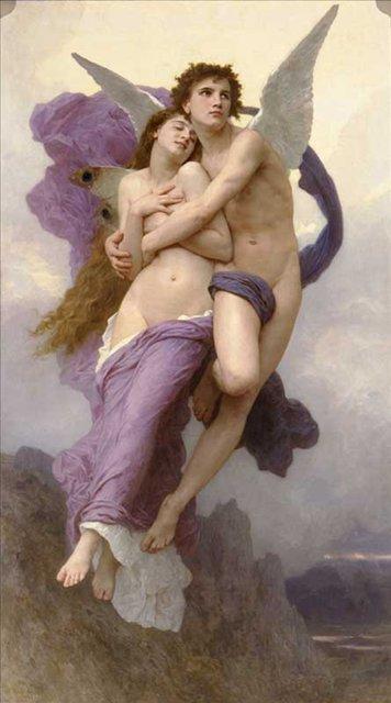 картина Похищение Психеи, Адольф Бугро, плюс статья  Неповторимое очарование фрески - Бугеро Адольф фото