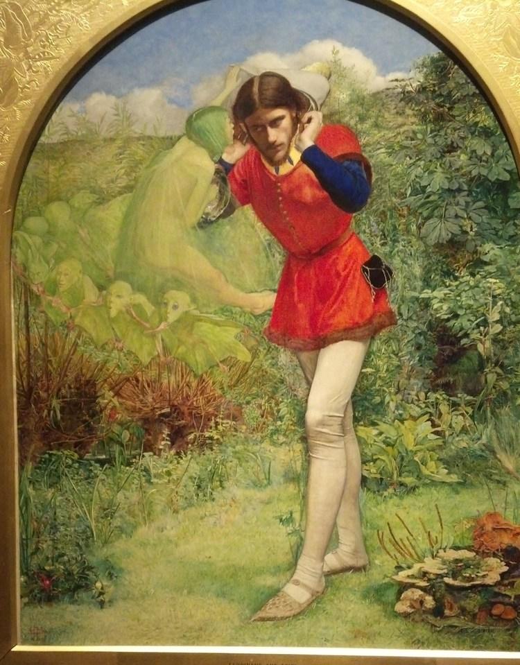 Фердинанд, соблазняемый Арилом ( Арил ) - Millais, John Everett фото